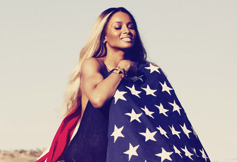Ciara Livin it Up new single flag photo