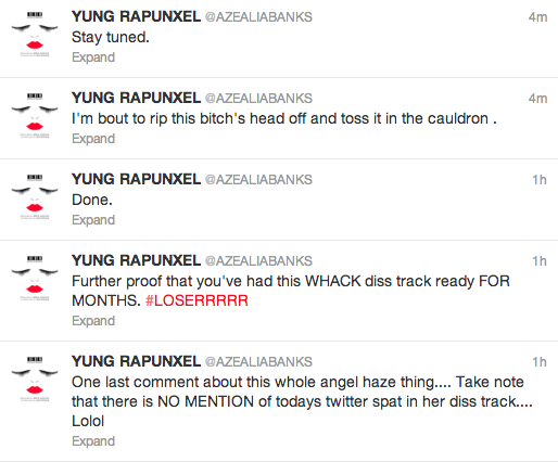 azealia banks tweets