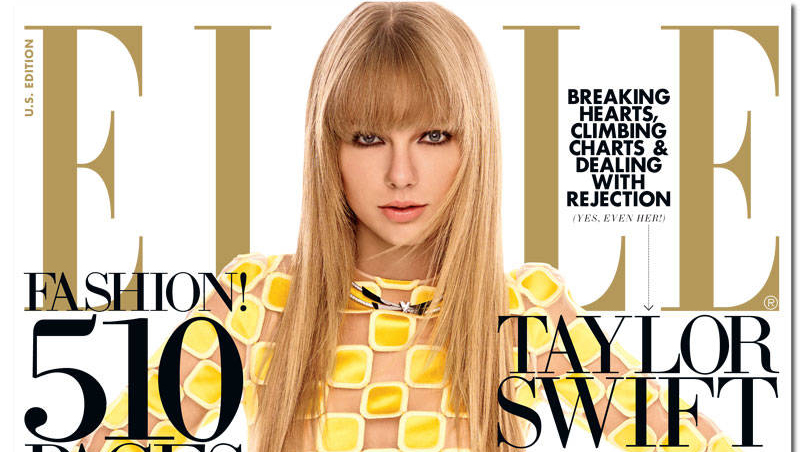 Taylor Swift Elle March Cover Banner