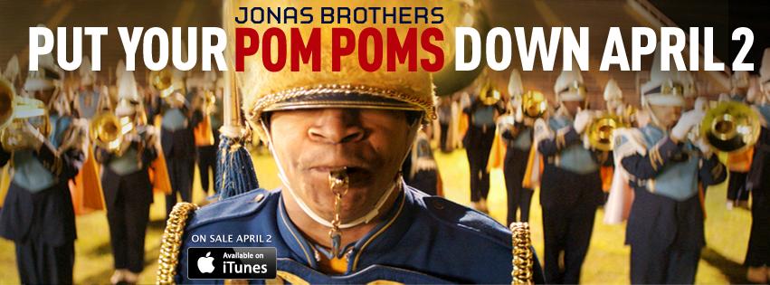 jonas brothers pom poms banner