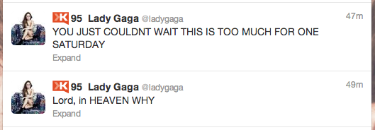 Lady Gaga Tweet Applause Leak