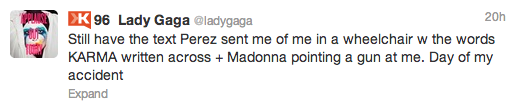 Lady Gaga Tweet Perez Hilton Hate Text