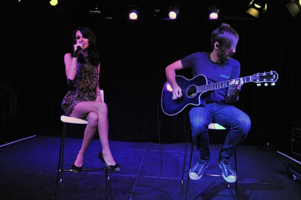 Cher Lloyd performing at 97.1 AMP Radio