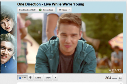 One Direction Live While We're Young Music Video