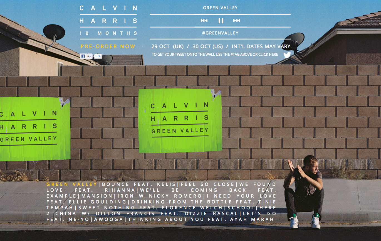 Calvin Harris 18 Months Site