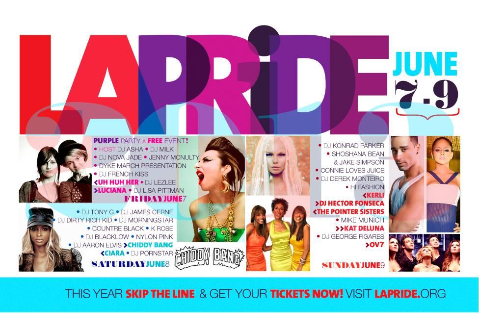La Pride Line Up