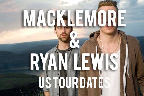 Macklemore & Ryan Lewis Tour Dates Banner