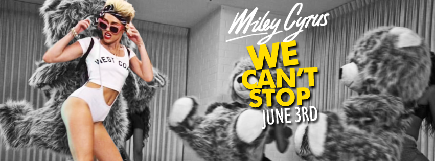 Miley Cyrus Can't Stop Banner Image