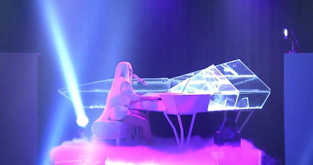 Lady Gaga ARTPOP The Tonight Show Piano