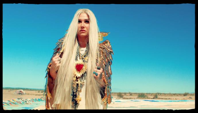 kesha praying music video angel wings